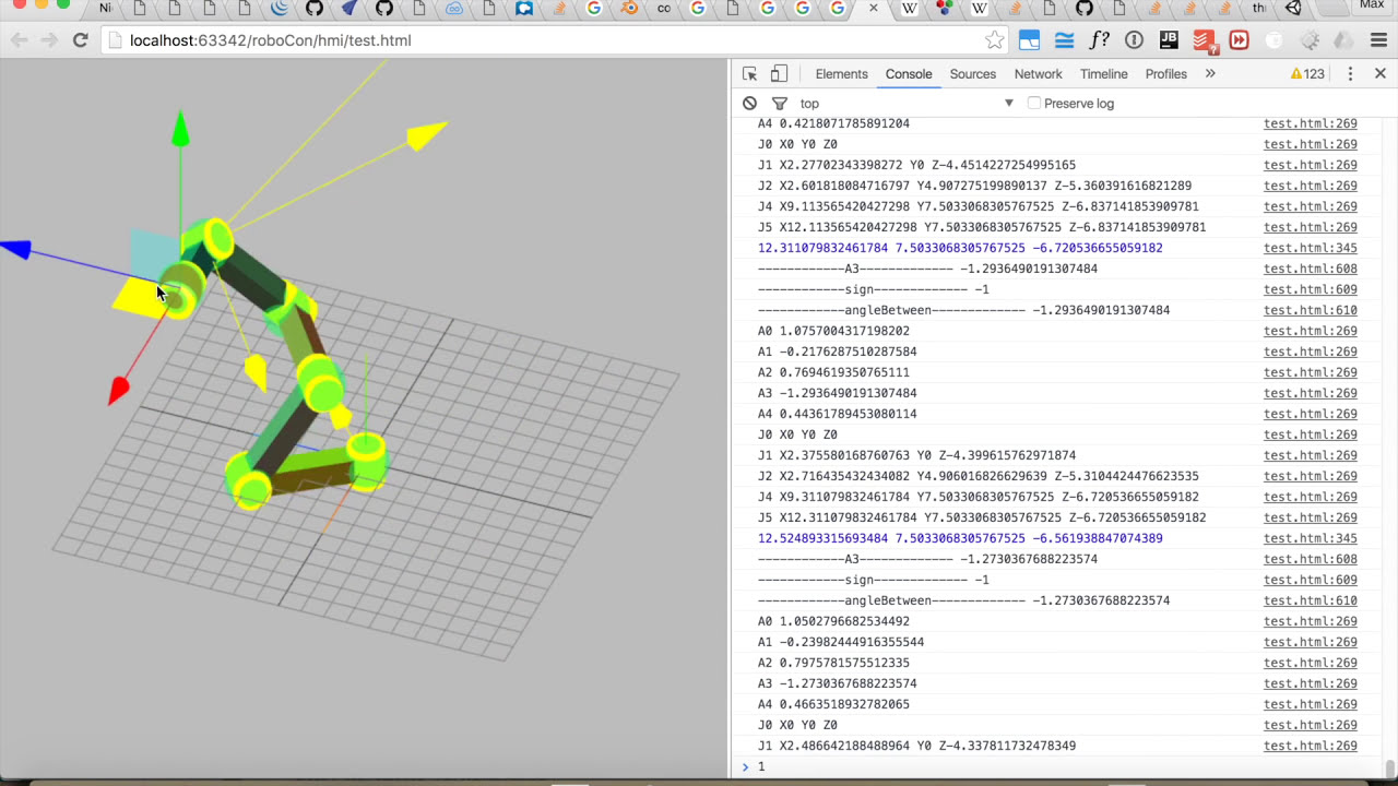 Javascript - Arduino 6 Dof Inverse Kinematics  Maximilian Beck 04:53 HD