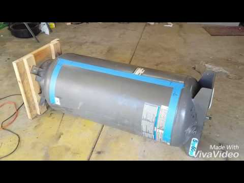 How To Build A Smoker Grill Out Of An Old Air Tank Youtube