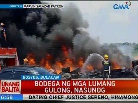 UB: Bodega ng mga lumang gulong sa Bustos, Bulacan, nasunog