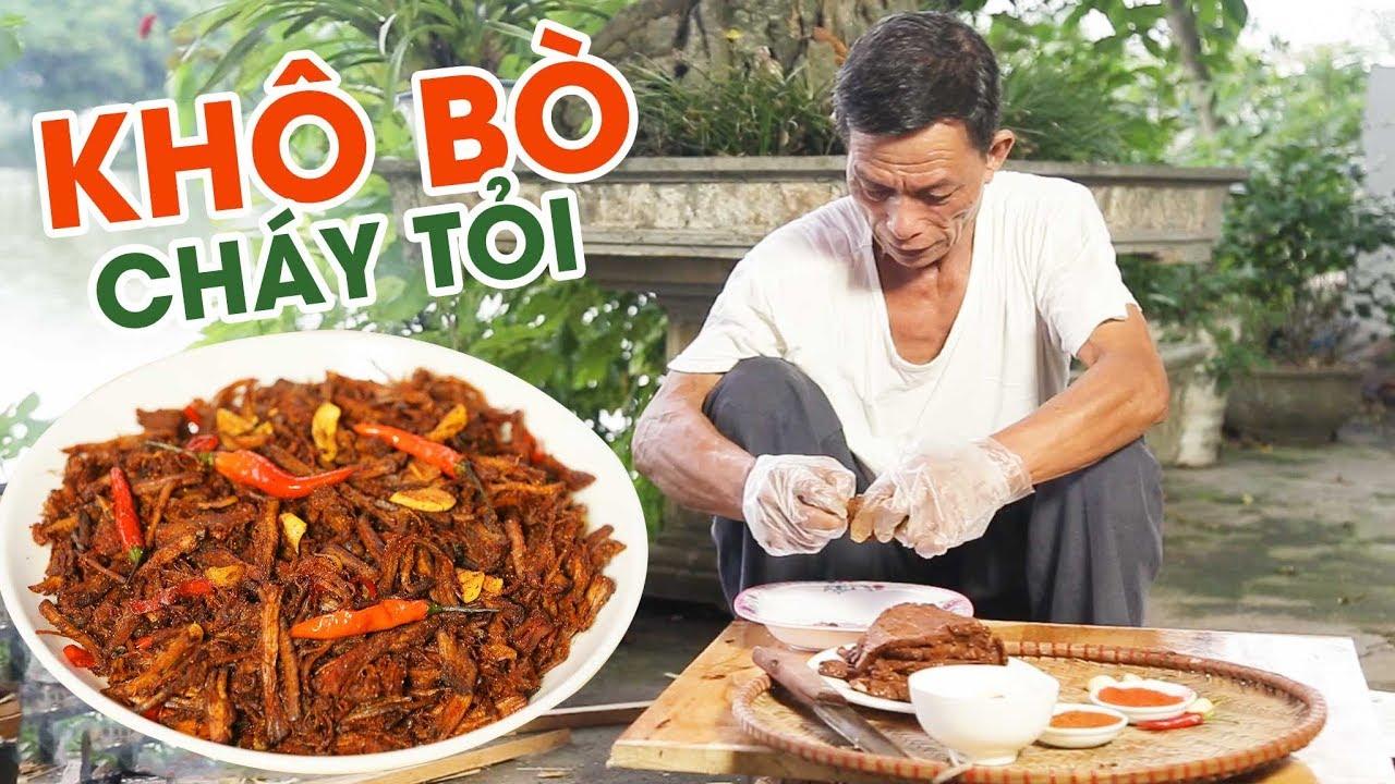 Ông Thọ Làm Món Khô Bò Cháy Tỏi Thơm Nức Mũi   Garlic Beef Jerky