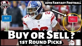 2019 Fantasy Football Draft Strategy - Buy or Sell 1st Round ADP