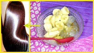 Banana Hair Mask For Extremely Shiny & Soft Hair