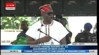 Swearing In Ceremony Of Ayo FAyose As Governor Of Ekiti State Pt8