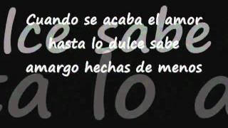 Cuando se acaba el amor - Guillermo Davila(LETRA).flv