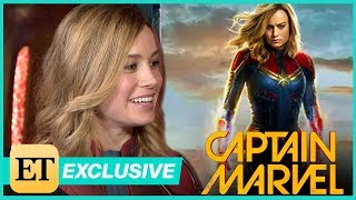 Captain Marvel: ET Visits the Set With Star Brie Larson! (Exclusive)