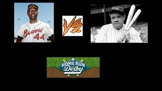 CLOSEST HOMERUN DERBY EVER    HANK AARON VS BABE RUTH