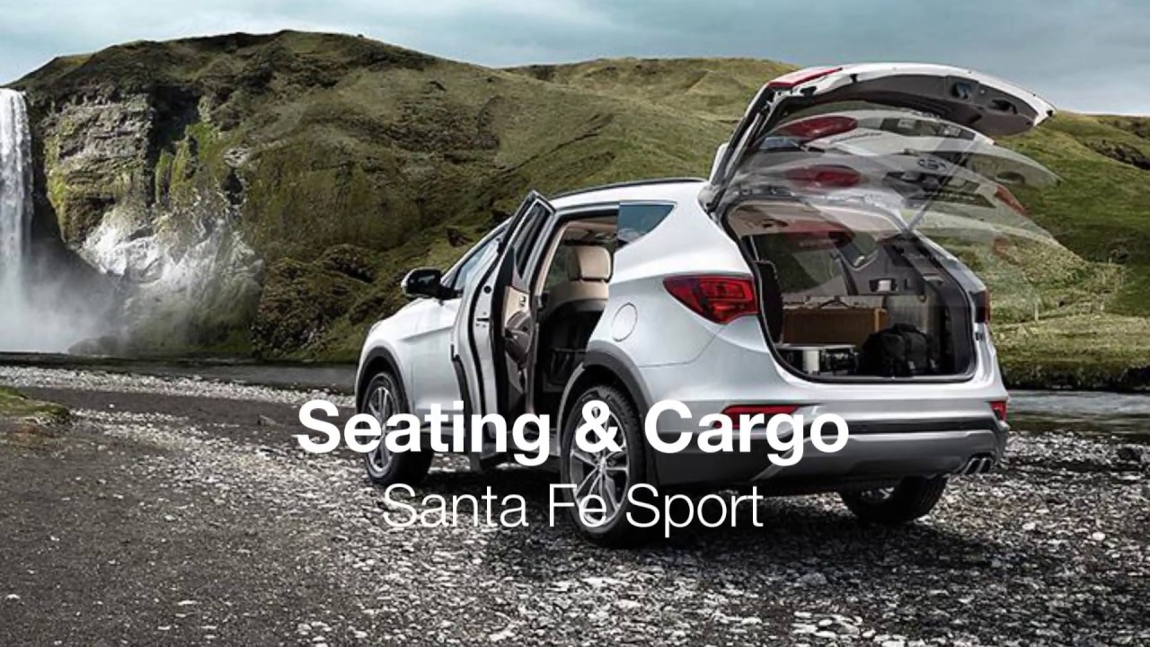 2017 Santa Fe Sport Cargo Space Youtube
