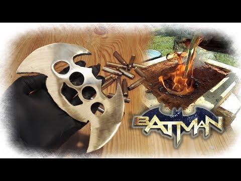 Casting Brass Batman Knuckle Duster from Bullet Shells