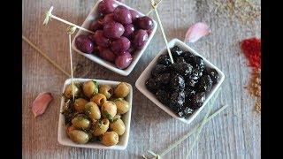 Assortiment d'olives marinées