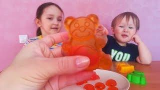 DIY БОЛЬШИЕ ЖЕЛЕЙНЫЕ КОНФЕТЫ / Мишки и смайлики / Делаем сами из Фруктового желе / Jelly sweets