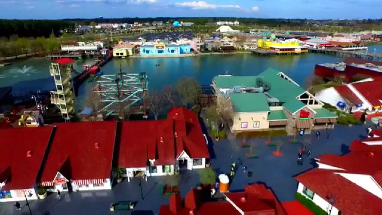 Myrtle Beach Broadway At The Sneak Peek Via Drone Video Productions