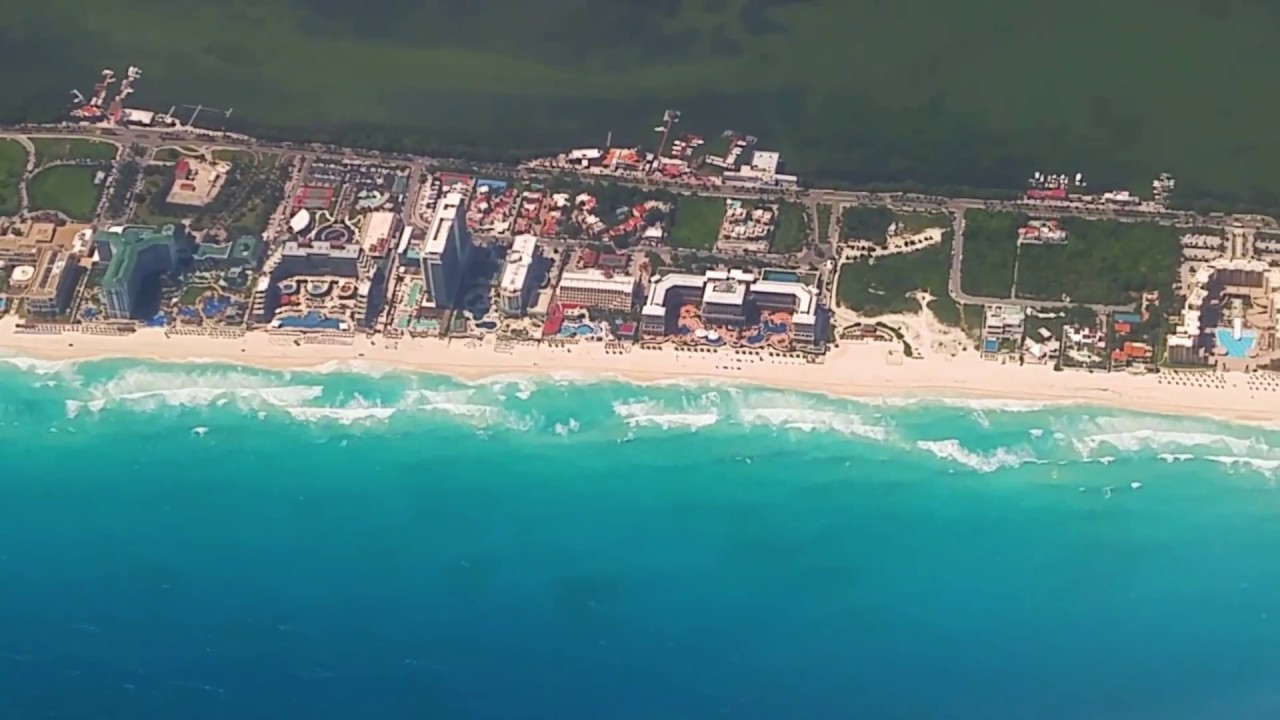 Breathtaking Top Views Of Cancun Mexico Hotel Zone From Air Youtube