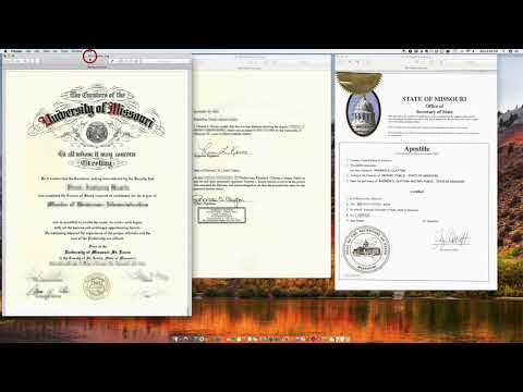 How To Apostille A Missouri Diploma