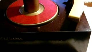 1950 rca victor 45j 45 rpm record player converted to 12 volt with fm stereo broadcasting