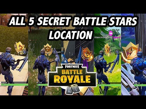 GET 5 FREE TIERS | ALL SECRET BATTLE STAR LOCATION - FORTNITE BATTLE ROYAL