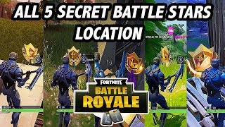 GET 5 FREE TIERS | ALL SECRET BATTLE STAR LOCATION - FORTNITE SEASON 4