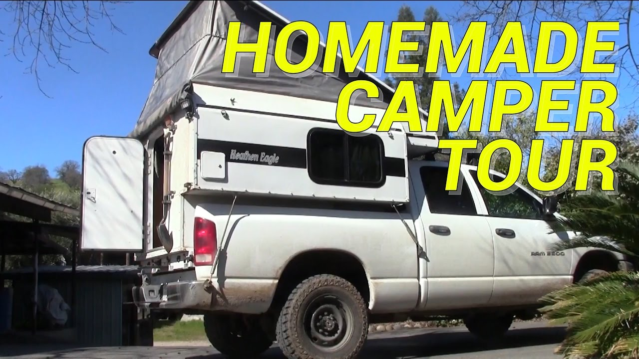 Homemade Pop Up Camper Tour Youtube