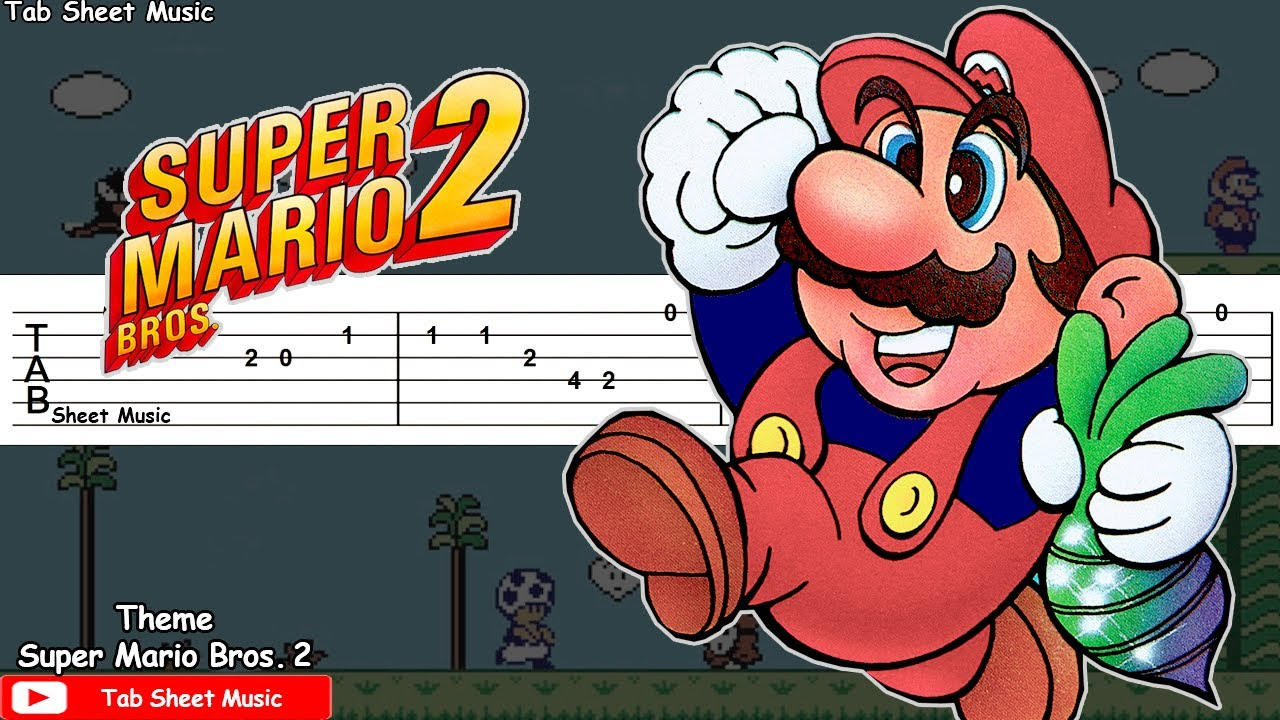 Super Mario Bros. 2 - Overworld Theme (Medley) Guitar Tutorial