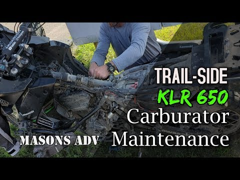 How I clean my carb trail-side | Masons ADV | KLR 650