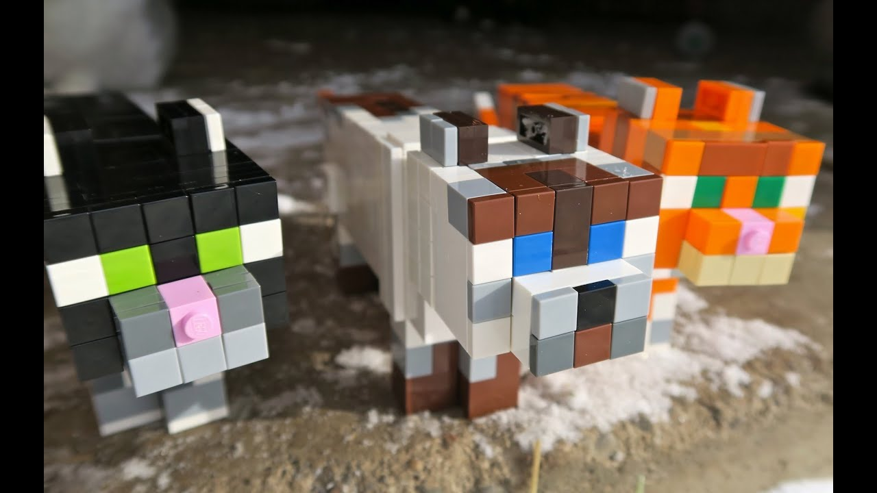 Lego cats minecraft youtube for How to build a cat