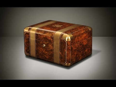 Daniellucian.com - Antique Jewellery Box in Burr Walnut with