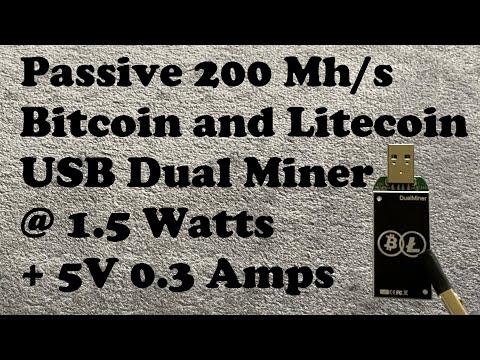 USB Gridseed Bitcoin Litecoin Dual Miner 200Mh/s At 5V 1.5 Watts