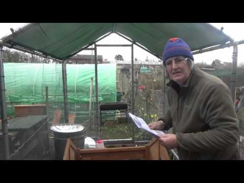 Julie's Allotment - Chicken Coop Assembly - 19th Mar 2016
