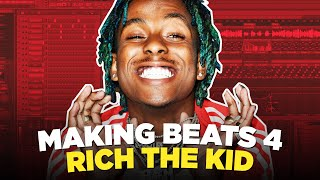 MAKING BEATS FOR RICH THE KID IN FL STUDIO 20 | KC Supreme