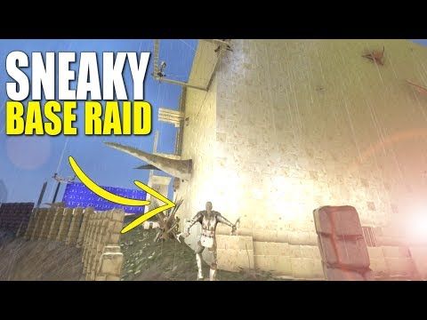 SNEAKY BASE SOAK RAID  - Official 6 man Small Tribe Servers - Ark: Survival Evolved - Ep.17