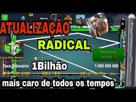TACO DE 1BILHÃO + ATUALIZAÇÃO RADICAL 8 BALL POOL