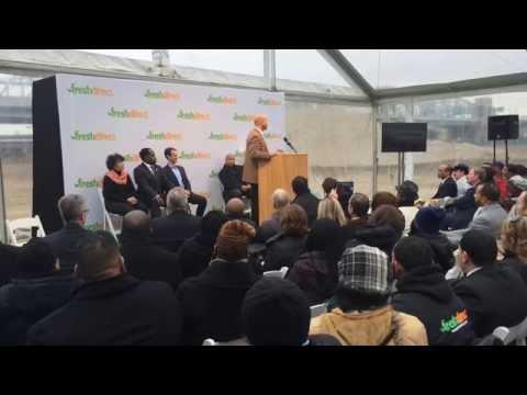 Borough President Diaz Speaks at FreshDirect Groundbreaking - 12/22/14
