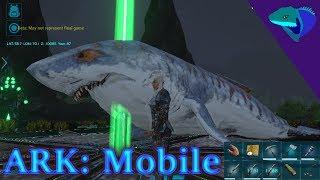 MEGALODON TAME, DEATH, REVIVE, DEATH! THE SHORT LIFE OF NED! Ark: Mobile Episode 25