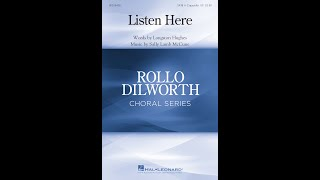 Listen Here (SATB Choir, a cappella) - Music by Sally Lamb McCune