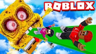 DON'T SLIDE INTO SPONGEBOB MOUTH CHALLENGE IN ROBLOX