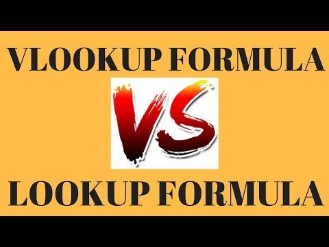 Vlookup Formula Vs Lookup Formula