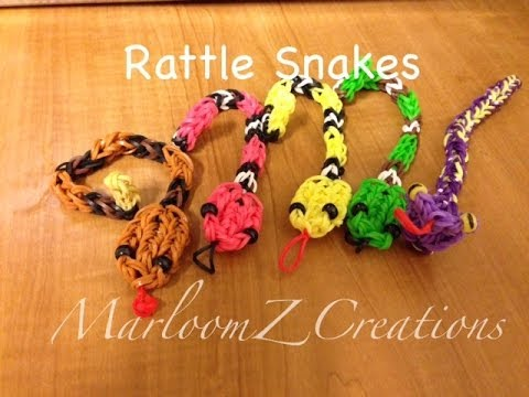 Rainbow Loom Rattle Snake Charm Travel Video