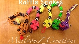 Repeat youtube video Rainbow Loom Rattle Snake Charm Gomitas Serpent