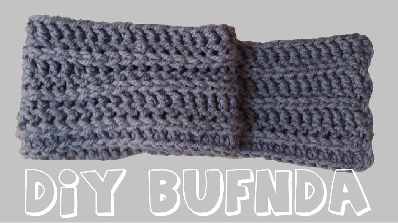 Bufanda de lana tejida en crochet o ganchillo paso a paso - YouTube