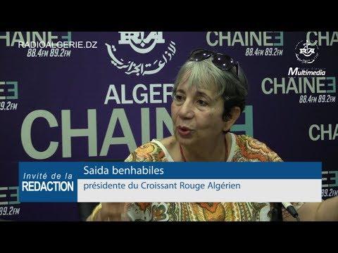Saida Benhabiles présidente du Croissant Rouge Algérien