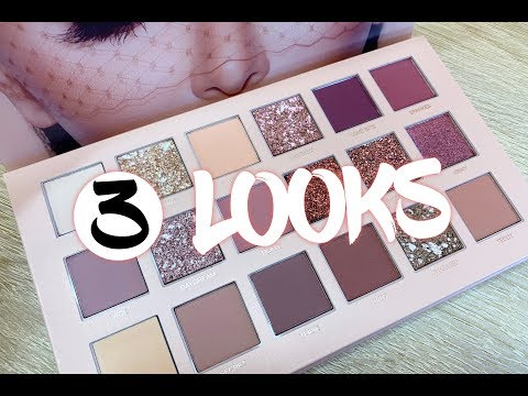 3 Looks Using the Huda Beauty New Nude Palette
