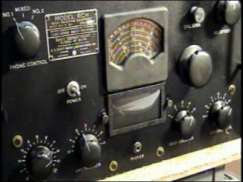 EH Scott RCH Navy Ship Tube Receiver Ham Shortwave Radio Demo