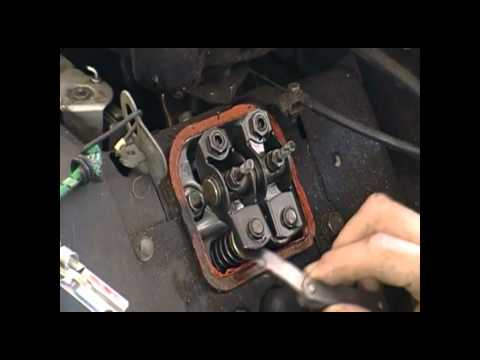 Lawn Mower Repair Valve Adjustment Briggs and Stratton V-Twin - YouTube