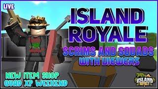 🔴[Live] ROBLOX 🌴 Island Royale mit Zuschauern! Benutzerdefinierte Scrims & Squads! Quad XP Wochenende! !vip