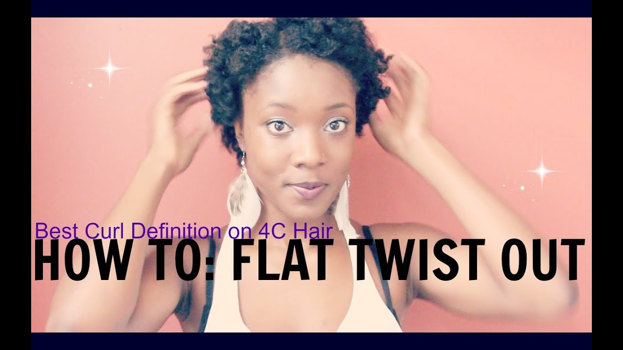 Natural Hair How To Curly Flat Twist Out On Thin Short