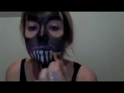 Venom Spiderman Face paint - YouTube