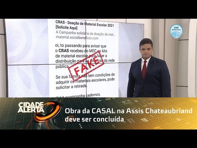 Obra da CASAL na Assis Chateaubriand deve ser concluída nesta quinta-feira