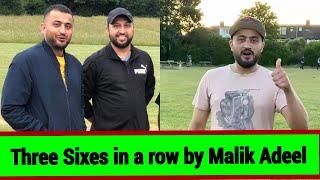 Adeel Malik Three Sixes In A Row From Baaghi Raja London Team