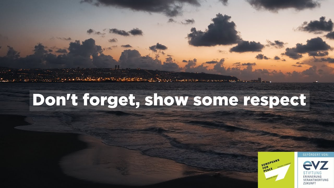 Don't forget, show some respect | Europeans for Peace Israel Exchange