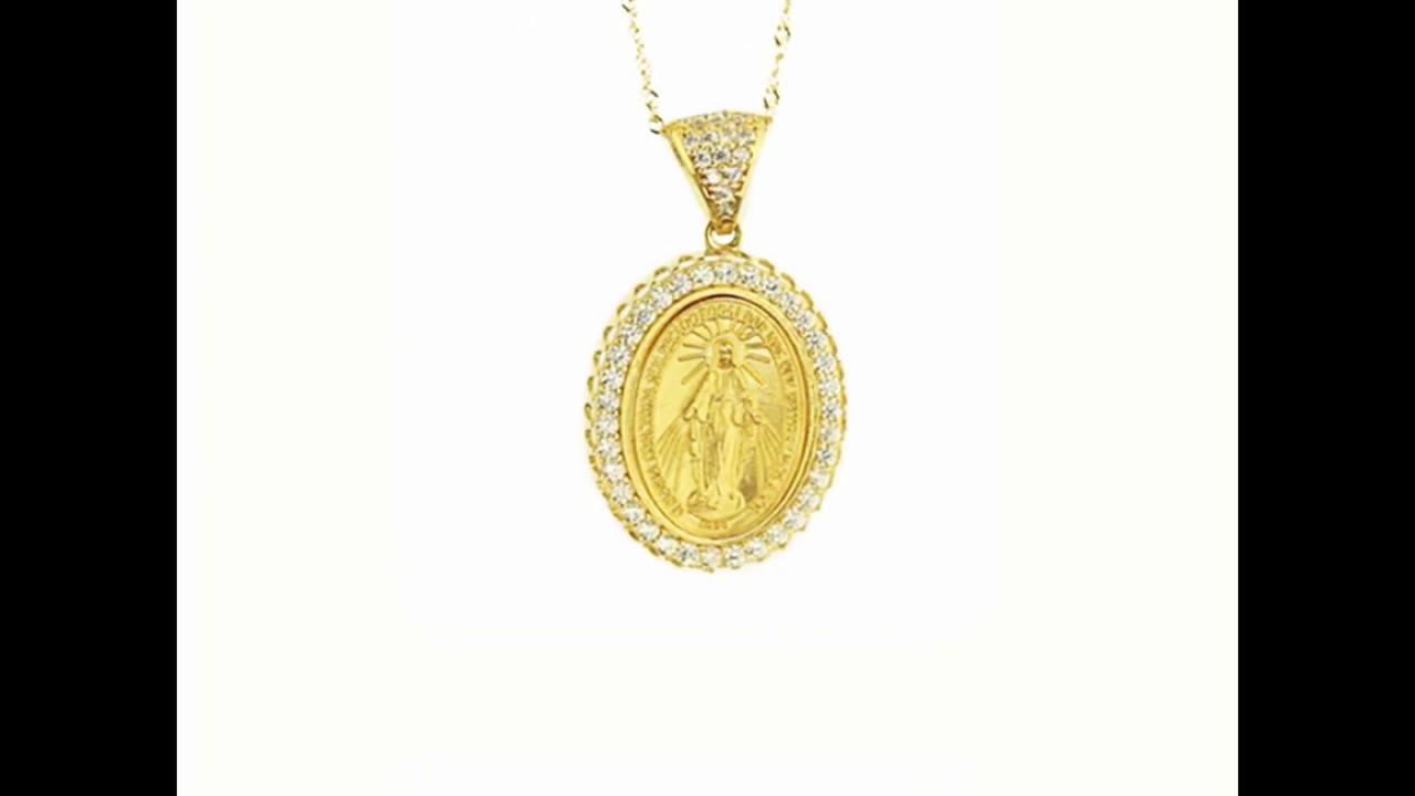Pingente De Ouro 18k Medalha Nossa Senhora Das Graças. Aubra Joias 1e46e3d446