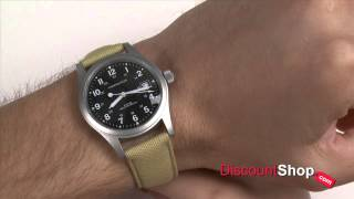 Hamilton Khaki Field Officer Mechanical H69419933 - review by DiscountShop.com